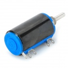 WXD3-13-2W Precise Linear Potentiometer - Black + Blue + Silver