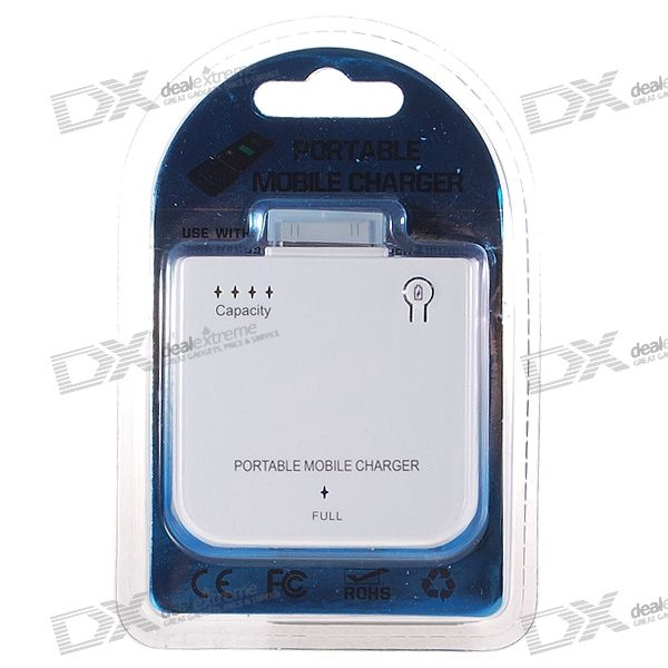 1900mAh Rechargeable External Battery Pack for iPod Nano3/Classic/Touch/iPhone 2G/3G