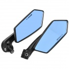 KOSO Universal Rhombic Rearview Mirrors for Motorcycles - Blue + Black (2 PCS)
