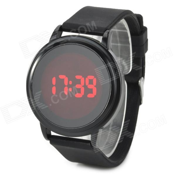 Stylish Touch Control LED Display Digital Wrist Watch - Black (1 x CR2032)