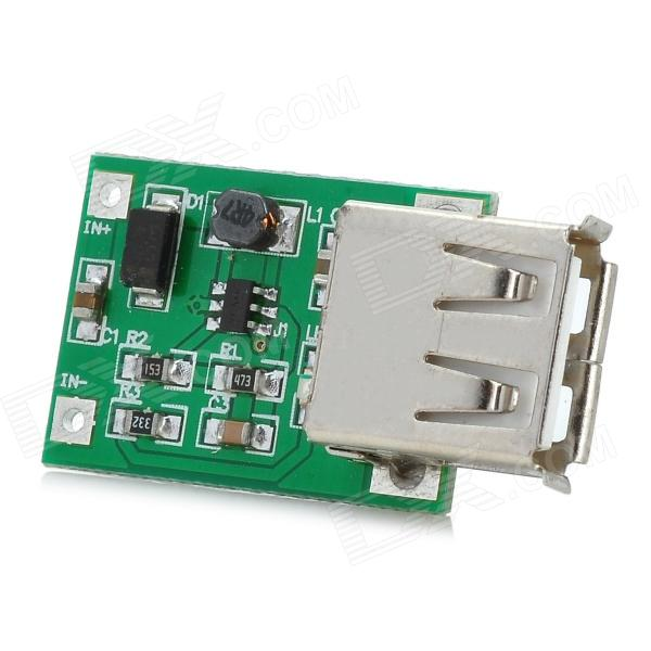 5V 600mA USB DC to DC Booster Circuit Board Module - Green + Silver