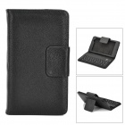 Bluetooth V3.0 59-Key Keyboard w/ PU Leather Case Cover Stand for Google Nexus 7 II - Black