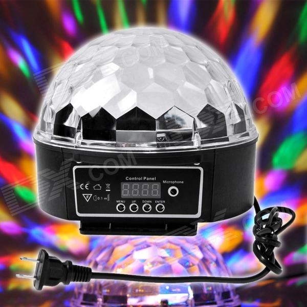 XL-10 Voice Remote Control 24W 6 x LED RGB Crystal Ball Disco DJ Stage Light - Black (AC 90~270V)
