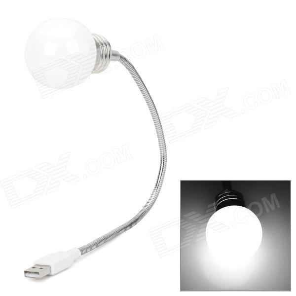 Lámpara USB Flexible Portable - Blanco + plata