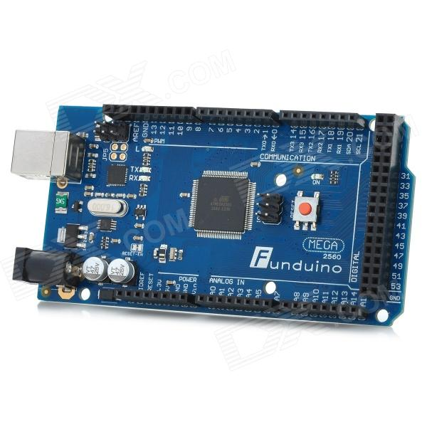 Improved Funduino Mega 2560 R3 Module (Compatible w/ Official Arduino Mega 2560 R3) - Blue + Black
