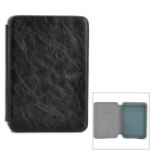 Protective PU Leather Case Cover w/ LED Reading Light for Amazon Kindle Touch - Black