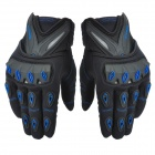 SCOYCO mc10 Cross-country Car Racing Full Finger Gloves for Men - Black + Blue (Size L)