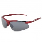 XIDUNLANG Y943 Outdoor Sports UV400 Windproof Sand-shield Sunglasses Goggles - Red
