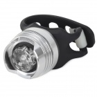 YH-002 Bicycle 2 Mode Front Safety Light - Black + Silver
