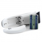 HAPPY KING HK-A009 ABS + PC Push Electric Hair Clipper w/ Combs - White + Silver + Grey (2 x AA)