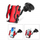 FLY S2168W-C Universal 360 Degree Rotation Car Holder Mount for Iphone / HTC + More - Black + Red
