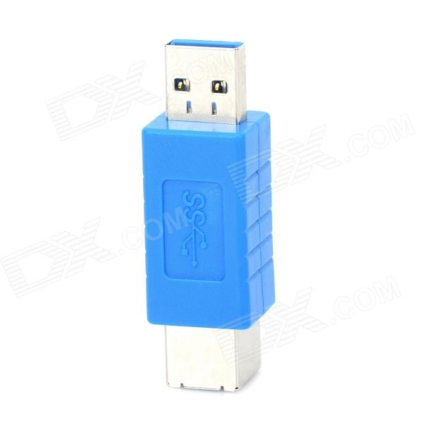 USB 3.0 A Male to B Female High Speed Transmission Adapter - Blue
