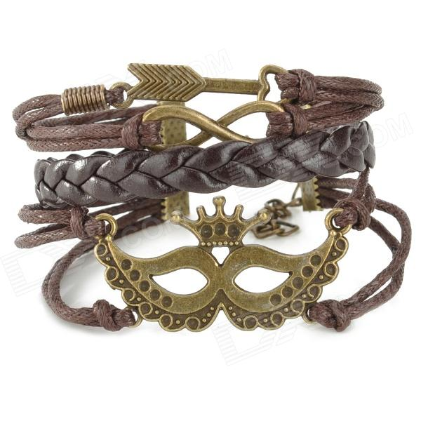 Woman's Stylish Punk Style Bracelet for Halloween / Costume Party - Coffee