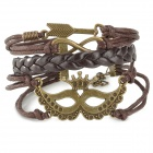 MJSL-1 Woman's Stylish Punk Style Bracelet for Halloween / Costume Party - Coffee