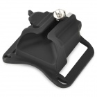 Hard Plastic Camera Waist Belt Buckle Button / Hanger - Black + Silver