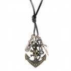 Skull Style Pendant Necklace for Men - Bronze (84cm - chain length)
