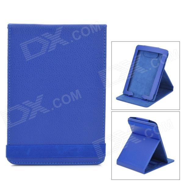 Protective PU Leather Case Cover Stand for Amazon Kindle Paperwhite - Deep Blue one piece 1x brand new high quality silicon protective skin case cover for xbox 360 remote controller blue green mix color