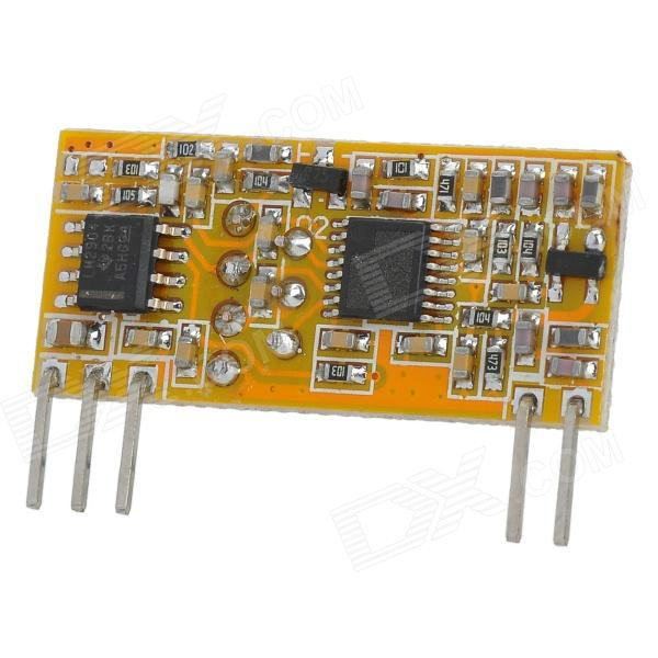433.92 MHz Superheterodyne Highly Sensitive Wireless Receiving Module - Yellow + Black rf high frequency wireless receiving module for diy yellow