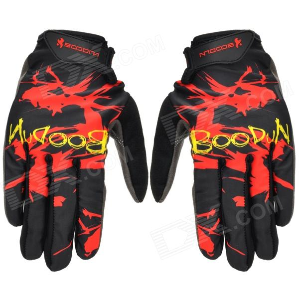 Boodun Cycling Suede + Lycra Full-finger Gloves - Red + Black (L / Pair) фен vitek vt 2533