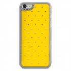 Stylish Inlaid Sparkling Crystal Protective Back Case for Iphone 5C - Yellow + Silver
