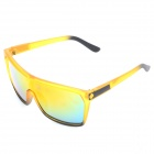 OREKA 1012 UV400 Protection PC Lens Sunglasses - Yellow + Black (Red REVO)