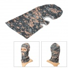 Qinglonglin Outdoor Camouflage Pattern Windproof Dacron Helmet Mask Cap - Camouflage (Free size)
