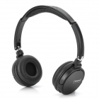 T1000 Folding Bluetooth v2.1 + EDR Stereo Bass Headphones w/ TF / Microphone / FM - Black
