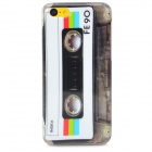 Retro CD Tape Pattern Protective PC Back Case for Iphone 5C - Multicolor