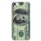 One Hundred Dollar Pattern Protective Back Case for Iphone 5C - Beige + Gray Black
