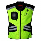 SCOYCO JK32 Reflective High Visibility Protective Clothing Vest - Green + Black (XXL)