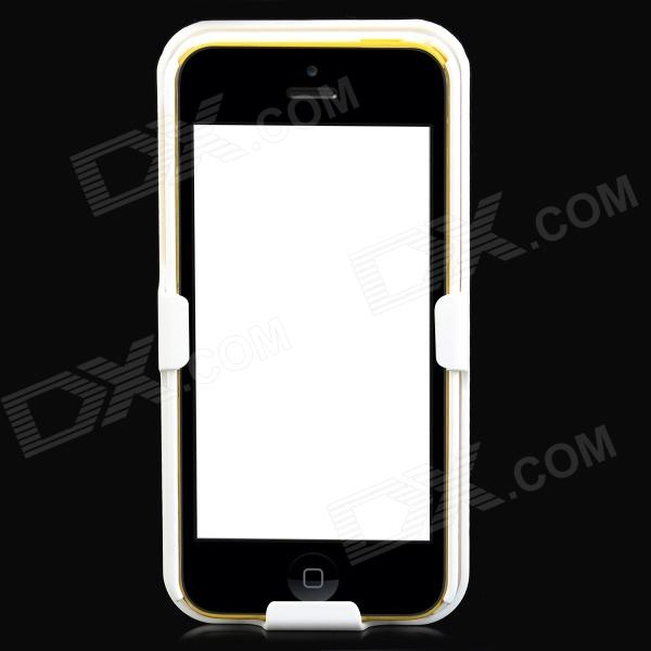 Protective Plastic Back Case w/ Belt Clip for Iphone 5C - White nillkin protective matte plastic back case w screen protector for iphone 6 4 7 golden