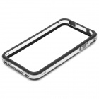Protective TPU + Plastic Bumper Frame for Iphone 4 / 4S - Black + Transparent White