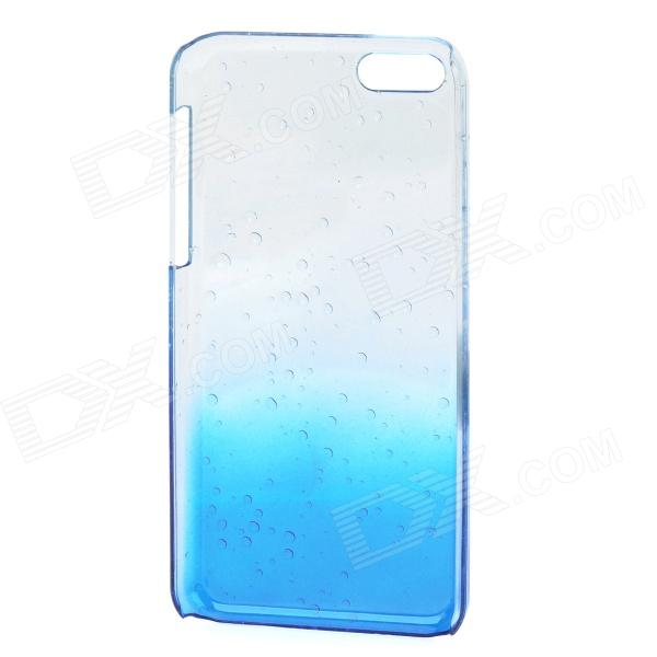 Water Drop Gradual Change Style Protective Plastic Back Case for Iphone 5C - Blue + Transparent