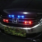 Waterproof Solar Powered 3W 300lm 6-LED Red / White / Blue Light Car Warning Lamp (3.5V)