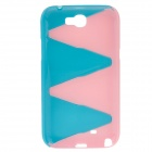 Stylish Protective Plastic Back Case for Samsung Galaxy Note 2 N7100 - Pink + Blue
