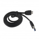 Flat Micro USB 9-Pin Male to USB 3.0 Male Data Sync / Charging Cable for Samsung Galaxy Note 3 N9000
