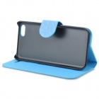 Protective Flip Open PU Leather Case w/ Stand / Card Slots for Iphone 5C - Sky Blue