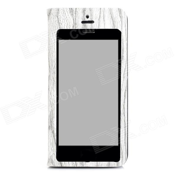 Tree Skin Pattern Protective Flip Open Case w/ Display Window for Iphone 5C - Light Grey + Black аксессуар защитное стекло samsung galaxy s8 onext 3d black 41260