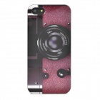 Camera Style Protective Plastic Back Case for iPhone 5 - Wine Red