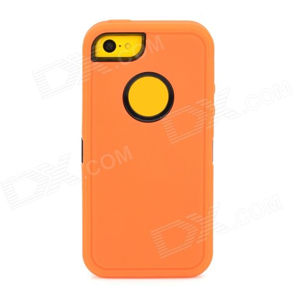Detachable Cool Protective Plastic + TPU Full Body Case for Iphone 5C - Orange + Black protective detachable plastic case for iphone 5 black