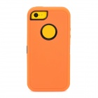 Detachable Cool Protective Plastic + TPU Full Body Case for Iphone 5C - Orange + Black