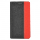 Orcal Pattern Protective Flip Open PU Leather Case for Samsung Note3 - Black + Red