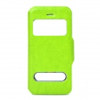 Protective PU Leather Case w/ Dual Display Window for iPhone 5 - Green