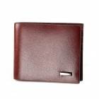 Calmoon CM702-002 Fashionable Business Folding Cow Split Leather Men's Wallet - Brown