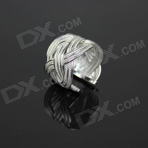 925 Net Silver Ring - SilverRings<br>Quantity1Form  ColorSilverMaterialSilverGenderMenSuitable forAdultsU.S Size 6Ring Diameter22Ring Circumference58Packing List1 x Ring<br>