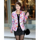 OZL 806 Fashionable Women's Slim Fit Small Suit - Multicolored (Size-L)