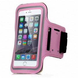 """Universal EVA Sports Gym Armband for 4.5~5.0"""" Cell Phone - Pink + Black"""