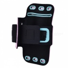 "Universal EVA Sports Gym Armband for 4.5~5.0"" Cell Phone - Pink + Black"