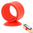 Multifunctional Flexible Tape Mobile Phone Suction Cup Holder - Red