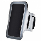 "Universal EVA Sports Gym Armband for 4.5~5.0"" Cell Phone - Silver + Black"